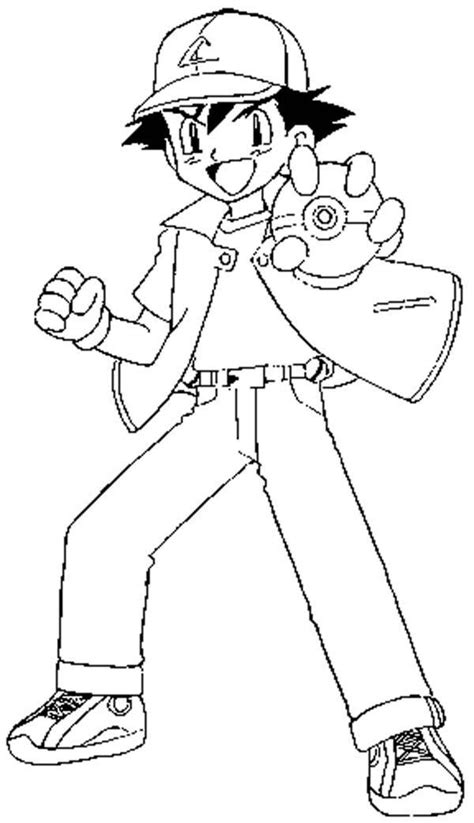 ash ketchum coloring page coloring home