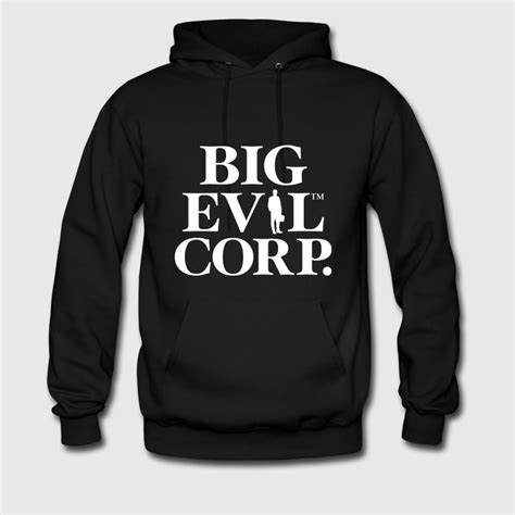 Sweater Hoodie Evil Corp Navy Front Logo big evil corp logo white hoodie spreadshirt