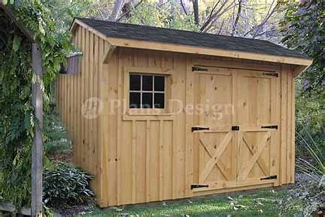 saltbox style storage shed project plans design