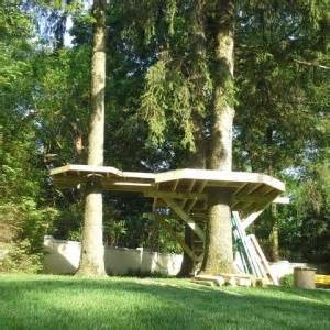 Backyard Platform Deck Scarsdale New York Treehouse Tree Houses By Tree Top