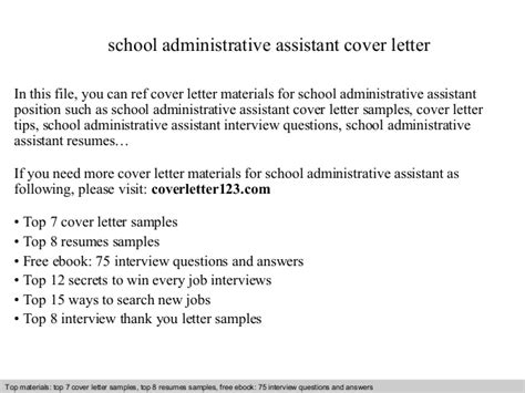 cover letter for college administrative assistant school administrative assistant cover letter