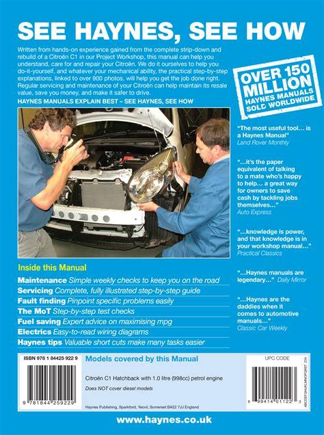 Citroen C1 Petrol 05 11 Haynes Repair Manual Haynes