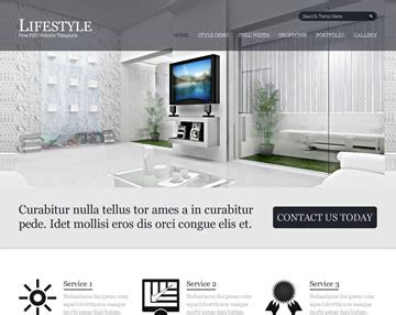 free website templates home design lifestyle free psd website template psd templates os