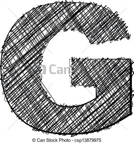 G Drawing Images by Draw Font Letter G Vector Illustration