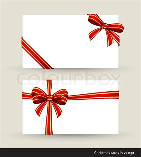 My Ribbon Gift Card Price - gift cards tied up with red ribbon with knots stock vector colourbox