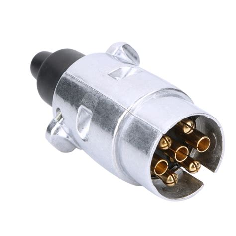 7 pin car electrical trailer plug sockets round male and