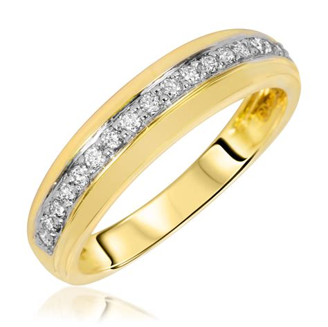 1 7 carat t w s wedding ring 14k yellow