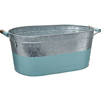 blue metallic party tub   tk maxx