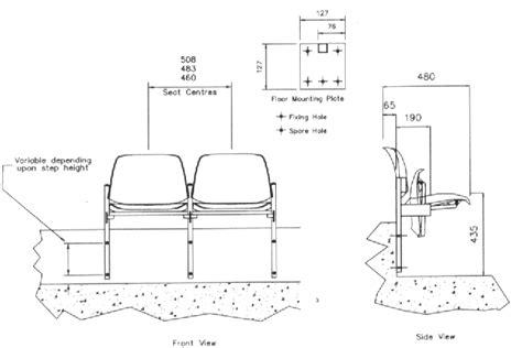 stadium bench seating dimensions restall stadium seating the sutton