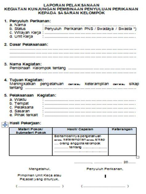 cara membuat layout laporan komunitas penyuluh perikanan contoh format laporan