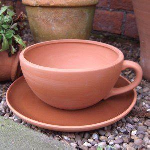terracotta tea cup and saucer planter large cup dia 17