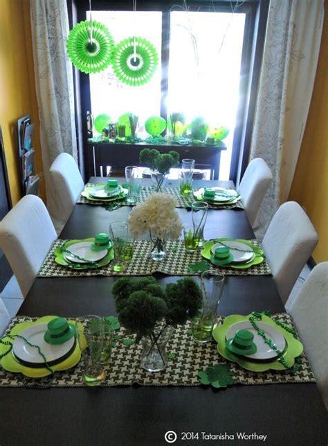 st patricks day table decor  centerpiece ideas