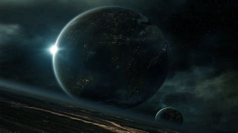 cosmos sci fi earth atmosphere moon plantets star sunlight wallpaper planet sky clouds earth moon science