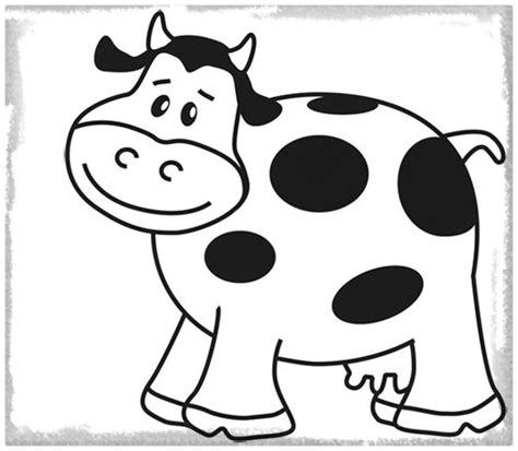 imagenes infantiles tiernas para colorear dibujos para colorear de una vaca imagenes de vacas