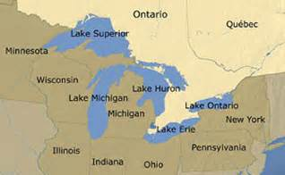 map of the five great lakes in the united states the great lakes maps gardener