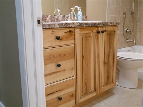 rustic real wood vanity with granite countertop mounted
