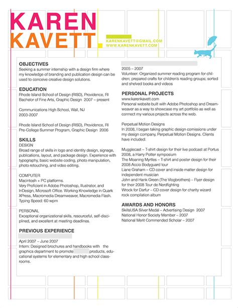 How To Design A Resume by How To Design A Resume Kavett