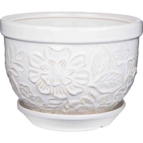 10 Inch Ceramic Flower Pots - 12 inch pennington ceramic vintage floral pot planter