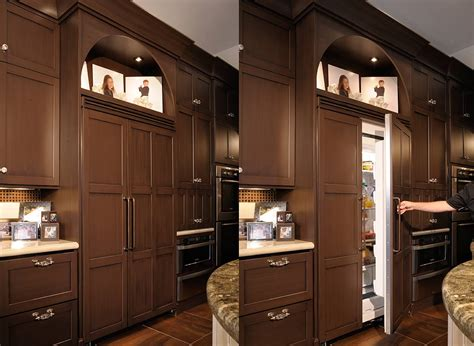 lovely built in fridge home kitchens pinterest