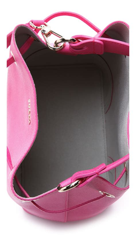 String Bag Sb 02 furla drawstring bag magenta in purple lyst