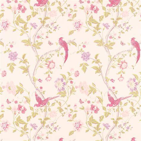 dusty pink wallpaper uk summer palace cerise floral tapet laura ashley sverige