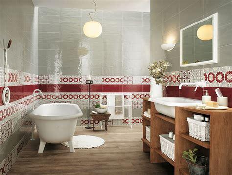 red and white tiles for bathroom red white bathroom border tiles interior design ideas