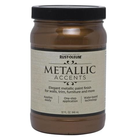 shop rust oleum metallic accents bronze metal metallic gloss metallic interior paint