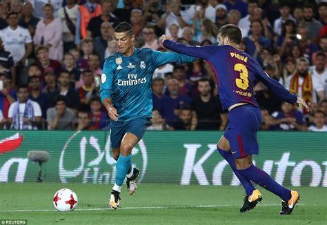 imagenes de real madrid vs barcelona barcelona 1 3 real madrid cristiano ronaldo hits screamer