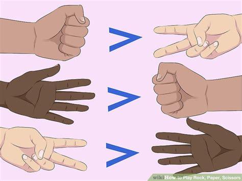 How To Make A Rock Paper Scissors In Scratch - how to play rock paper scissors 12 steps with pictures