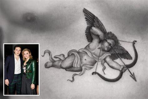 beckham cupid tattoo brooklyn beckham reveals enormous tattoo of cupid across