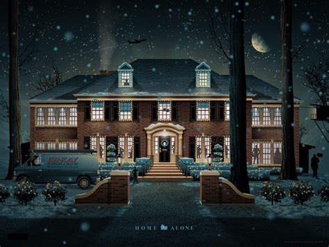 home alone house mondo s home alone poster arrives just in time for the