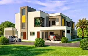 3d front elevation 1 kanal corner plot 2 house