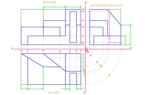9 Drawings For Projection by Orthographic Projection Problems And Solutions Www