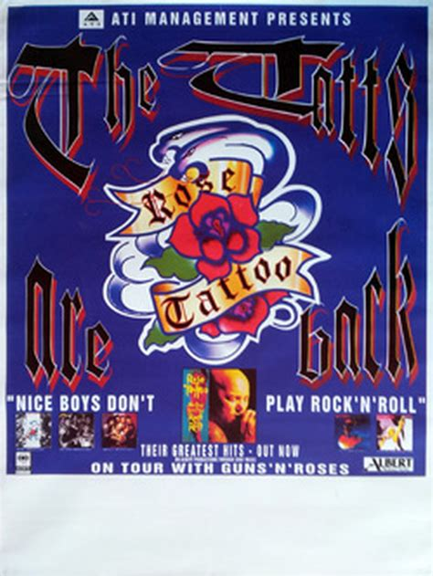 rose tattoo nice boys boys don t play rock n roll album promo