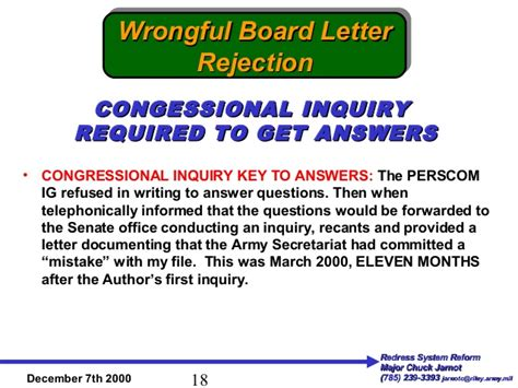Rejection Letter Mistake Corrupt U S Army Board Of Corrections Excuses Bureaucratic Crimes A