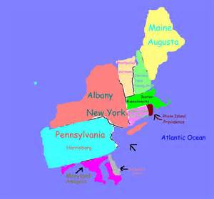 Map Of North East States by Gallery For Gt Northeastern States Map With Capitals