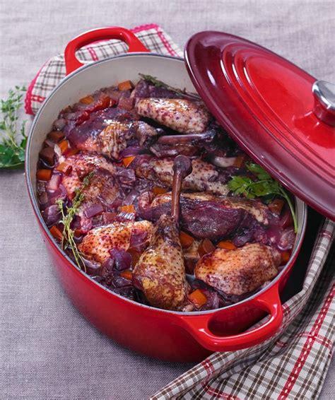cuisine et vin recette recette le poulet fermier au vin