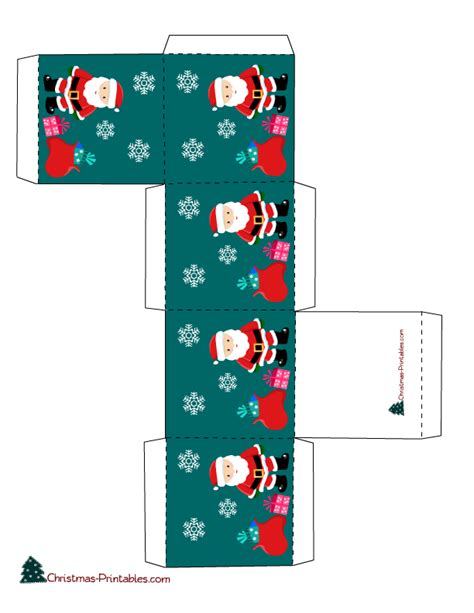 gift box with images of santa doosjes 2 pinterest
