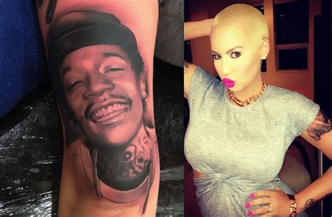 amber rose new tattoo shows wiz khalifa photo