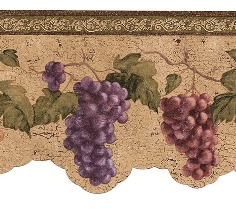 classy kitchen grape decor wine grapes wallpaper border vin7312db cafe kitchen wine