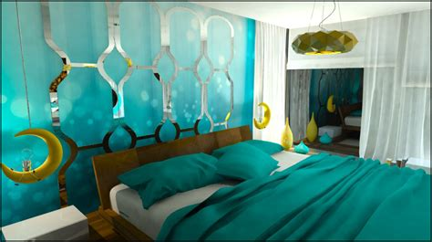Turquoise Bedroom By Katarzyna Durlej At Coroflot Com | turquoise bedroom by katarzyna durlej at coroflot com