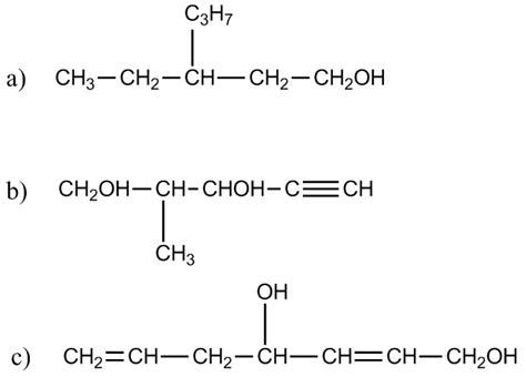 cadenas ramificadas de alcoholes 11 compuestos org 225 nicos oxigenados y nitrogenados