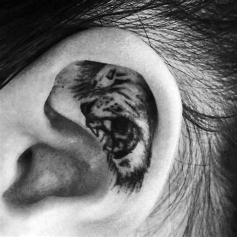ear tattoos for men 100 ear tattoos for inner and outer design ideas
