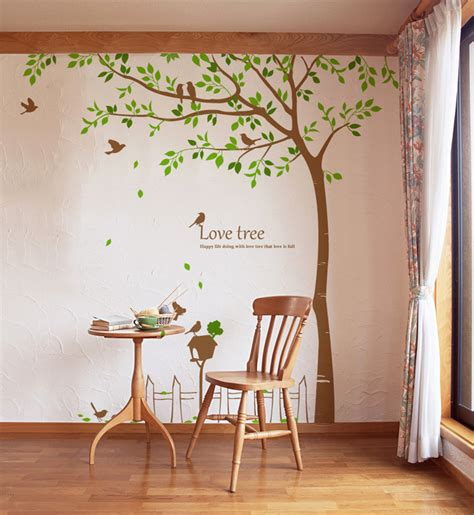 tree wall stickers wall decals large tree 2017 grasscloth wallpaper