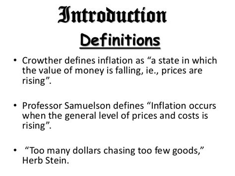 Inflation Ppt In Mba by Inflation