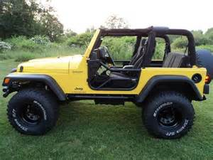 Lifted Yellow Jeep Wrangler Buy Used 2203 Jeep Wrangler X Custom Lift Lifted With 35