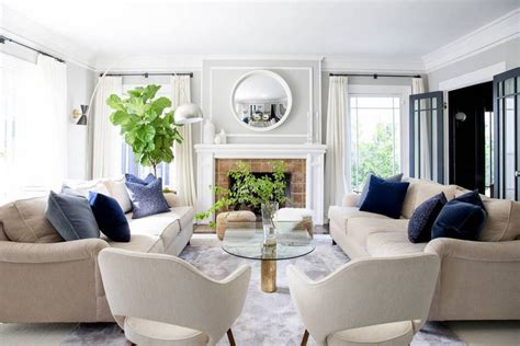 blue and taupe living room twofold la interior design project domino