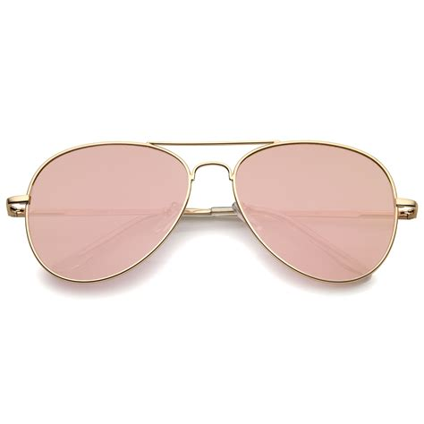 matte rose gold sunglassla small matte metal rose gold pink mirror flat