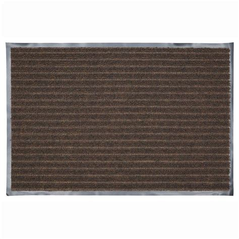 commercial entry rugs trafficmaster 36 in x 48 in chocolate commercial door mat 483074 the home depot