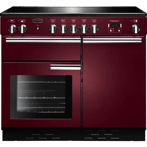 electric induction range cookers 100cm buy rangemaster prop100eicy c professional plus cranberry with chrome trim 100cm electric